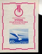 Polen Block 21 Briefmarekenausstellung  * Mint Falz MLH - Blocks & Sheetlets & Panes