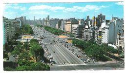 BUENOS AIRES - AVENIDA 9 DE JULIO - VIAGGIATA 1973 - (1773) - Formato Grande - Argentina