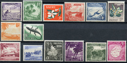 1954 - NAURU - Catg. Mi. 37/50 (2 Val LH) - NH - (R-SI.331.713 -  53) - Nauru