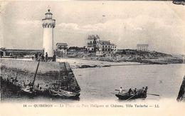 56-QUIBERON- LE PHARE DE PORT HALIGUEN ET CHTEAU ; VILLA YACINTHE - Quiberon