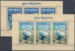 Romania Stamp Europa CEPT Poster Art Block 2003 MNH Mi 330-331 WS179499 - Romania