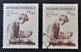 JOURNEE DU TIMBRE 1955 - NEUF * + OBLITERE - YT 856 - MI 1023 - 1945-.... 2nd Republic