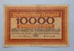 Allemagne -  10000 MARK MUNSTER 1923 -  Billet De La Période D'inflation - [ 3] 1918-1933 : République De Weimar
