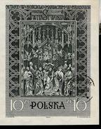 Polen Block 23  Veit Stoß Altar Krakau Used Gestempelt (1) - Blocks & Sheetlets & Panes