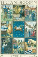 Sticker Card.  Fairytales. The Tinder Box   H.C. Andersen. Denmark  H-1150 - Fairy Tales, Popular Stories & Legends