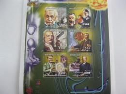Congo-2000-famous People-Newton,Edison,Henry Ford,Einstein-MI1691-96 - Famous People
