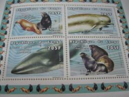 Congo-1999-fauna-marine Life-whale,seal-MI.1605-08 - Postzegels