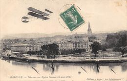 64-BAYONNE- TABUTEAU SUR BIPLAN FARMAN 18 AOUT 1910 - Bayonne