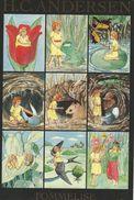 Sticker Card.  Fairytales. Thumbolina    H.C. Andersen. Denmark  H-1155 - Fairy Tales, Popular Stories & Legends