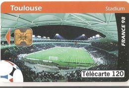 France 98 : Stadium De Toulouse Telecarte 120 - Sport