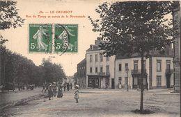 71-LE CREUSOT- RUE DE TORCY, ET ENTREE DE LA PROMENADE - Le Creusot