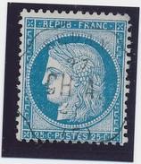 Cérès 25 C N° 60 Bleu Obl Convoyeur Station Sedan B/TB. - 1871-1875 Ceres