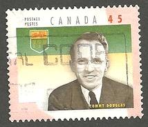 Sc. #1709d Provincial Premier, Tommy Douglas Single Used  1998 K099 - 1952-.... Règne D'Elizabeth II