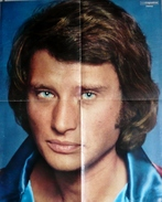POSTER 520 X 420 -  JOHNNY HALLYDAY  -  SALUT LES COPAINS - Posters