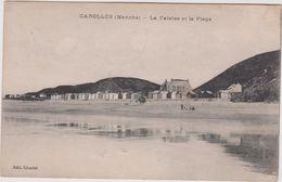Manche : CAROLLES : La   Falaise Et  Plage   1921 - France
