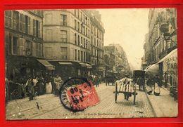Dt  75  - PARIS  La Rue De Menilmontant (animation) - Arrondissement: 20