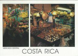 Costa Rica.  Mercado Central. Flowers And Tropical Fruits Market.   Sent To Denmark.  # 07097 - Costa Rica