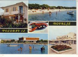 NOVALJA, Croatia  - Pozdrav Iz NOVALJE,   Multi View , Used 1974 - Yugoslavia
