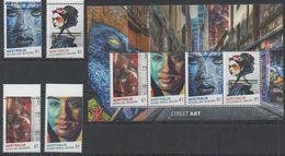 AUSTRALIA, 2017, MNH, STREET ART, GRAFFITI, PAINTING, DRAWING, 4v+SHEETLET - Art