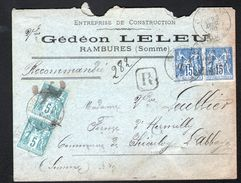 Enveloppe Recommandée De Rambures ( Somme) De 1998 - 1898-1900 Sage (Type III)
