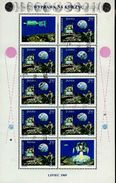 Polen 1940 Kleinbogen Apollo 11 Used Gestempelt - Blocks & Sheetlets & Panes