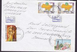 Ukraine Mult. Franked LVIV 1997 Cover Brief FREDERIKSBERG Denmark Omnibus Roxolana Verfassung - Ukraine