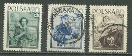 POLAND Oblitéré 741-743 Journée Internationale Des Femmes Ouvrière Tracteur Femme - 1944-.... Republic