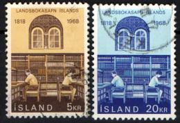 ISLANDA - 1968 - 150° ANNIVERSARIO DELLA BIBLIOTECA NAZIONALE - USATI - 1944-... Republik