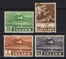 ISLANDA - 1948 - ERUZIONE DEL VULCANO HEKLA NEL 1947 - USATI - Usati