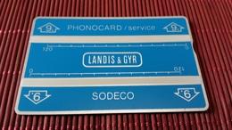 Landis & Gyr Service Card 002 D 03671 (Mint,Neuve) Rare - [4] Test & Services