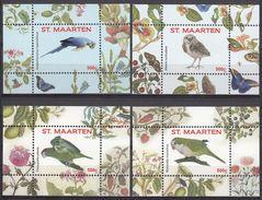 St. Maarten 2016 Birds Butterflies V-VIII 4 SS MNH - Papageien