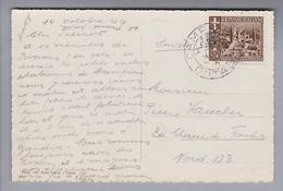 Campione D'Italia 1944-10-14 Ansichtskarte Mit 1x 10Rp. Nach La Chaux-de-Fonds - 1944-45 République Sociale
