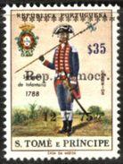 SAO TOME AND PRINCIPE, 1976, OVERLOAD STAMPS, R#14g, DISPLACED OVERLOAD, MNH - Sao Tome Et Principe