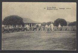 Postwaardestuk Belgisch Congo 10C Rood - Gebruikt - Congo Belge - Autres
