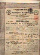 « 1ère Soc. Des Chemins De Fer Second  Aires En Russie – Emprunt 4 ½ % (1913) Coupre De 187,50 Roubles - Chemin De Fer & Tramway