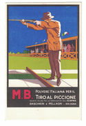 CARTOLINA POSTALE PUBBLICITARIA M.B. POLVERE ITALIANA  ILLUSTRATORE MARCELLO DUDOVICH - Publicité