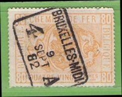 MiNr.E5 O Belgien Eisenbahnpaketmarken - Bahnwesen