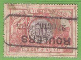 MiNr.E34 O Belgien Eisenbahnpaketmarken - Bahnwesen