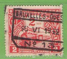 MiNr.E117 O Belgien Eisenbahnpaketmarken - Bahnwesen