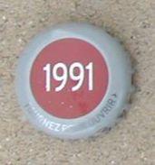 France Capsule Bière Crown Cap Beer Kronenbourg Série Limitée Les Années Qui Comptent 1991 - Bier