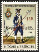 "SAO TOME AND PRINCIPE, 1976, OVERLOAD STAMPS, R#15e, BROKEN ""O"" , MNH - Sao Tome Et Principe"