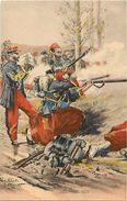Ref 206- Militaires Militaria -regiments -uniforme - Illustrateurs -illustrateur Pierre Albert Leroux - Zouaves 1870- - Uniforms
