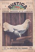 RUSTICA La Construction D'un Pigeonnier Pigeon Colombophilie (2 Scans) - Nature