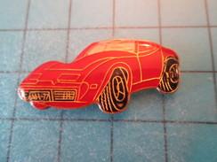 Pin1015a Pin's Pins : Rare Et Belle Qualité AUTOMOBILE / CORVETTE ROUGE - Corvette