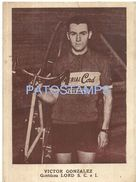 77374 ARGENTINA CYCLING BICYCLE VICTOR GONZALEZ PUBLICITY IMPERIAL NO POSTAL TYPE POSTCARD - Ciclismo