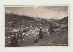 DOLOMITI - MOENA DI FIEMME VERSO FASSA - VIAGGIATA 1937 - VERA  FOTOGRAFIA - ITALY POSTCARD - Trento