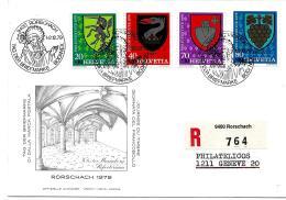 """35-51 - Enveloppe Avec Oblit Spéciale """"Journée Du Timbre 1979 Rorschach"""" - Storia Postale"""