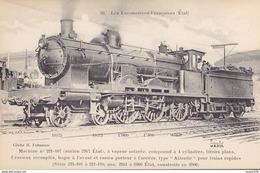FLEURY / 90  / LES LOCOMOTIVES FRANCAISES / ETAT / MACHINE221.107 - Trains