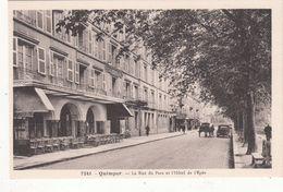Cp , 29 , QUIMPER , La Rue Du Parc Et L'Hôtel De L'Épée - Quimper