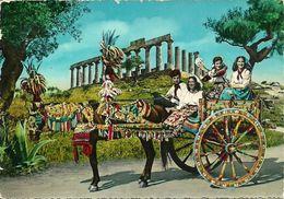 Carretto Siciliano, Charrette Sicilienne, Sicilian Cart  - Tempio Sul Fondo - Costumes